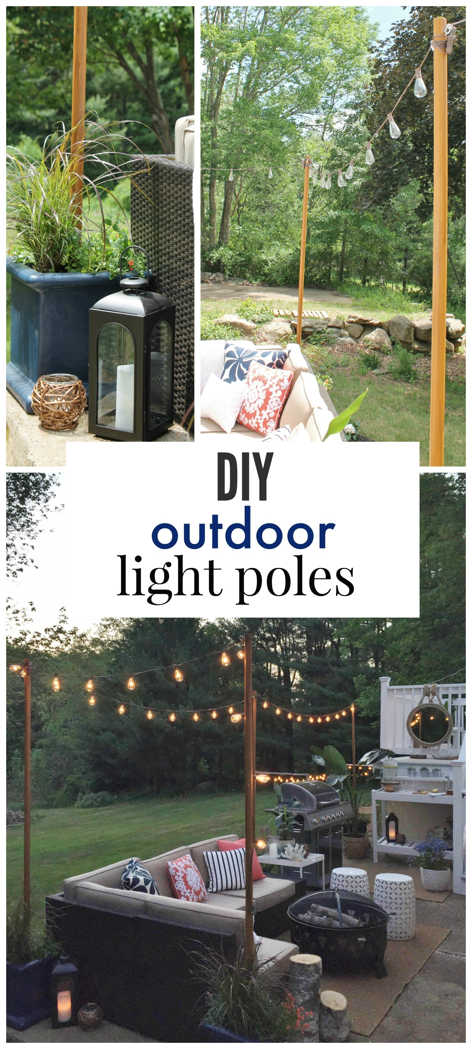 Diy Outdoor Light Poles – City Farmhouse Pertaining To Pole Hanging Outdoor Lights (View 9 of 15)