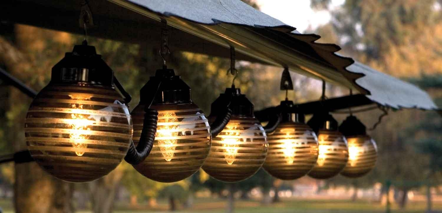 Inspiration about Diy : Patio Lighting Options Ways Light Your Hanging Outdoor Lights In Hanging Outdoor Lights On Stucco (#15 of 15)