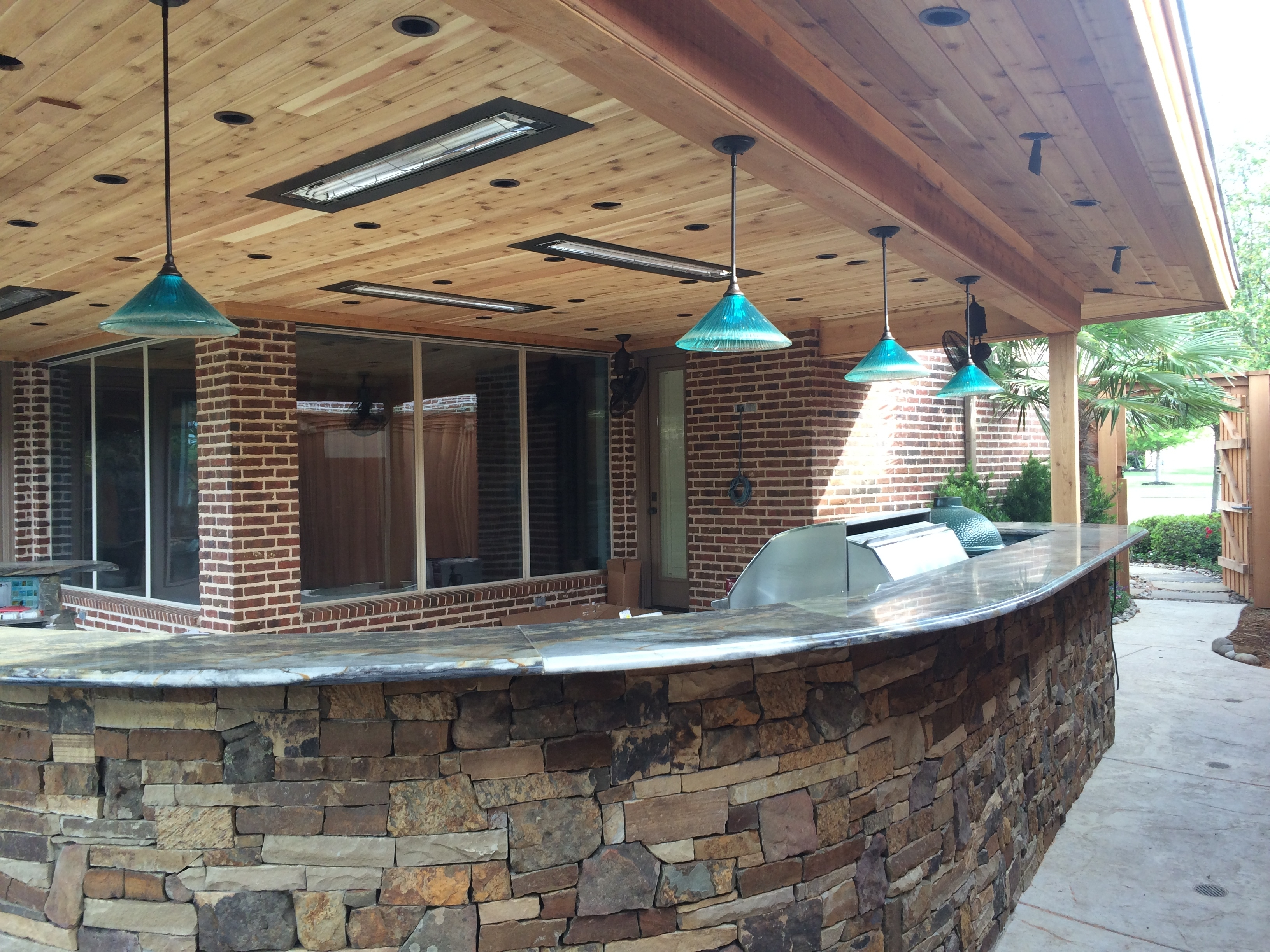 Inspiration about Diy : Pictures Gallery Outdoor Kitchen Bars Dallas And Heaters Bar In Outdoor Hanging Bar Lights (#6 of 15)