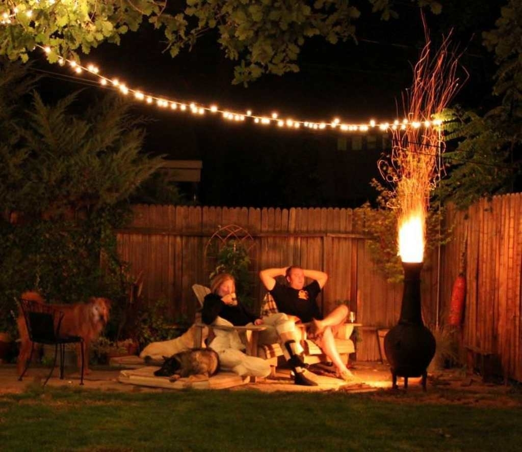 Inspiration about Diy : Simple Hanging String Lights For Excellent Patio Design With Regarding Outdoor Hanging String Lights From Australia (#2 of 15)