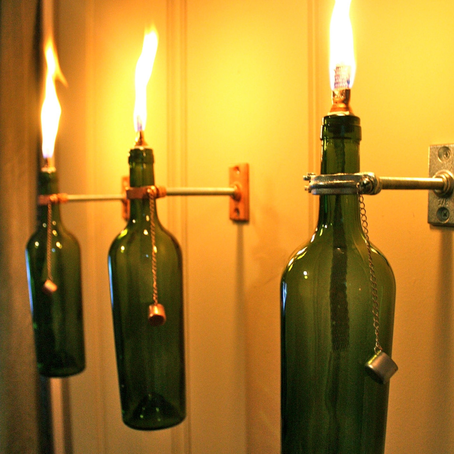 Inspiration about Diy : Wine Bottle Lamp Diy Repurposed Christmas Lights Outdoor For Making Outdoor Hanging Lights From Wine Bottles (#13 of 15)