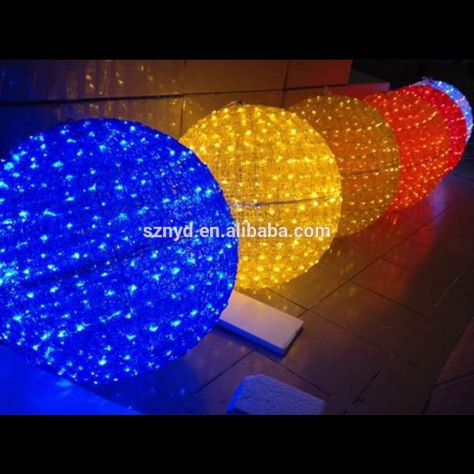 Diy : Yellow Christmas Ornament Balls Outdoor Hanging Light Large Intended For Outdoor Hanging Light Balls (View 8 of 15)