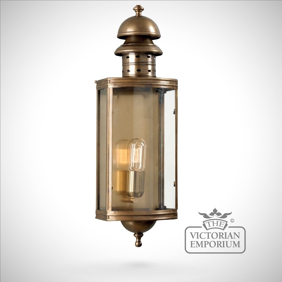 Downing Street Brass Wall Lantern – Antique Brass | Outdoor Wall Lights Throughout Brass Outdoor Wall Lighting (#8 of 15)