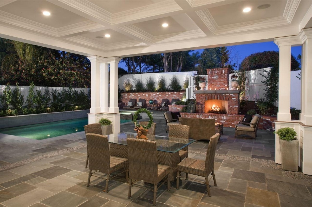 Inspiration about Downlight Bronze Outdoor Lighting Fixtures In A Paved Patio – Artenzo Throughout Modern Patio Outdoor Light Fixtures (#9 of 15)