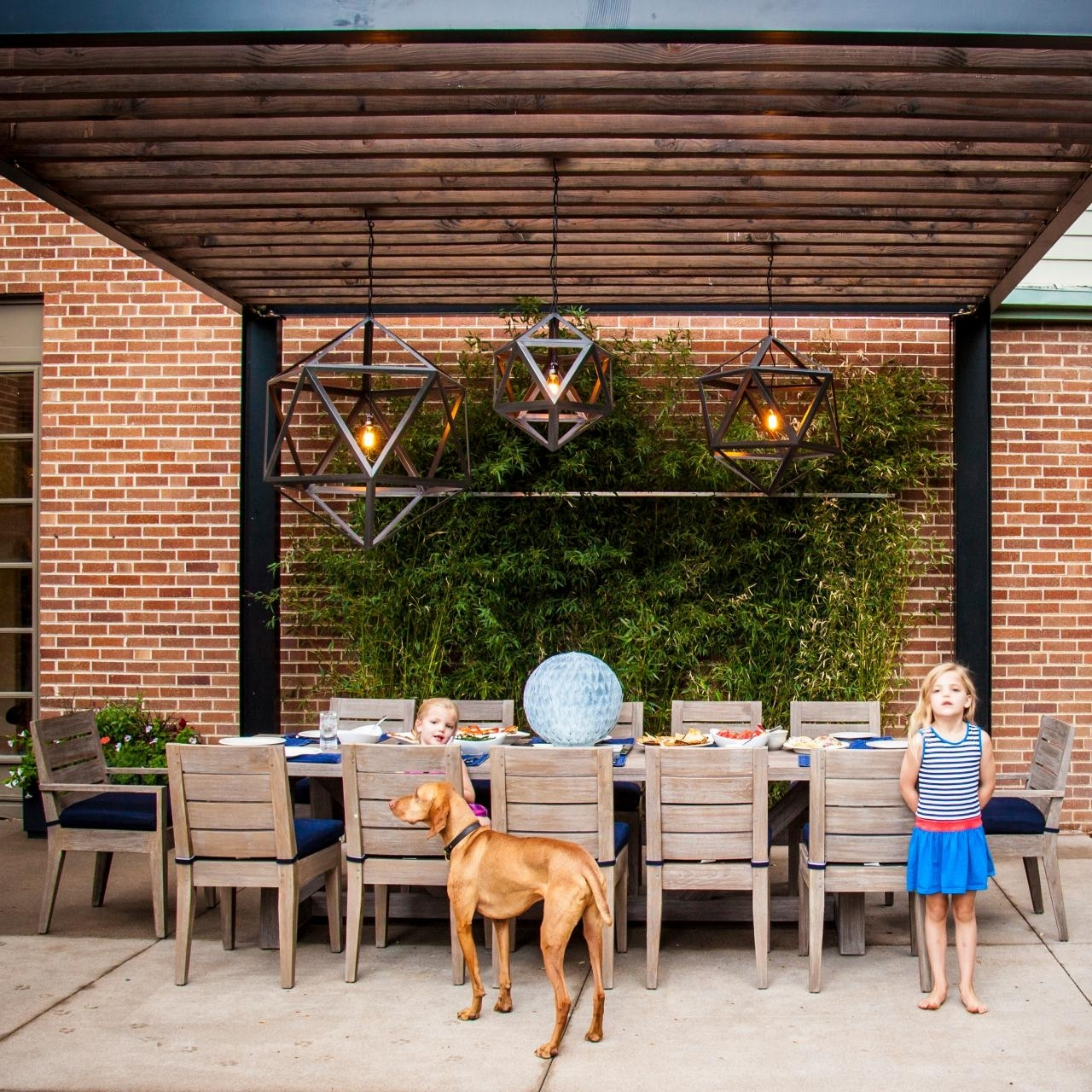 15 Inspirations Of Outdoor Hanging Lights For Pergola