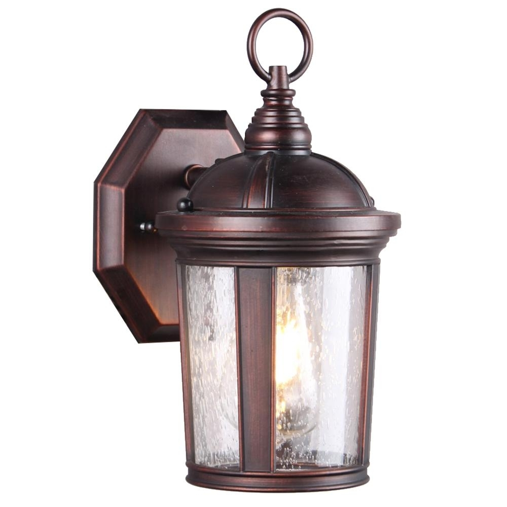 Inspiration about Dsi 1 Light Bronze Seeded Glass Outdoor Wall Mount Sconce With Led Intended For Outdoor Wall Lighting With Seeded Glass (#13 of 15)