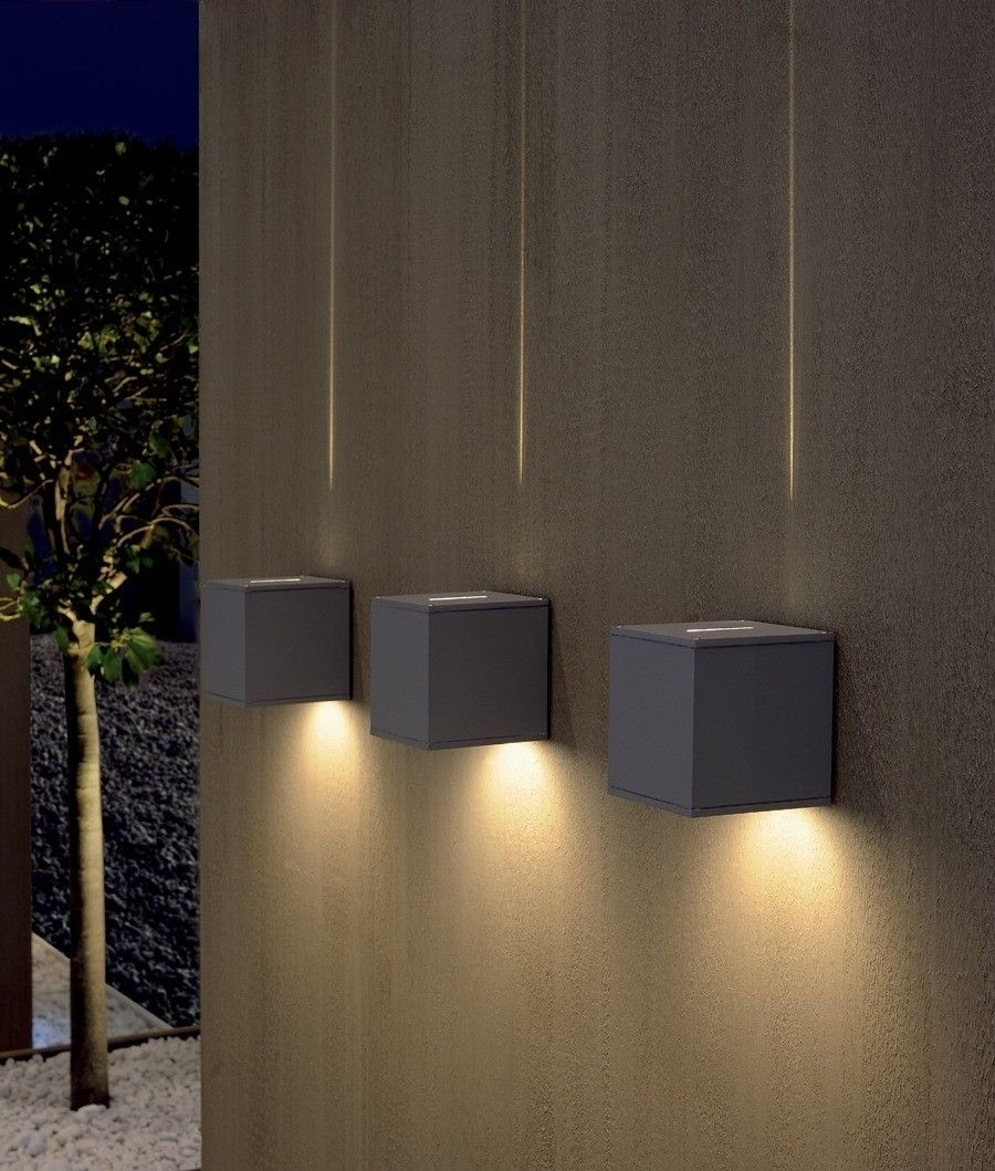 Dual Beam Cube Light | Bright Ideas | Pinterest | Beams, Lights And Intended For Garden Outdoor Wall Lights (#3 of 15)