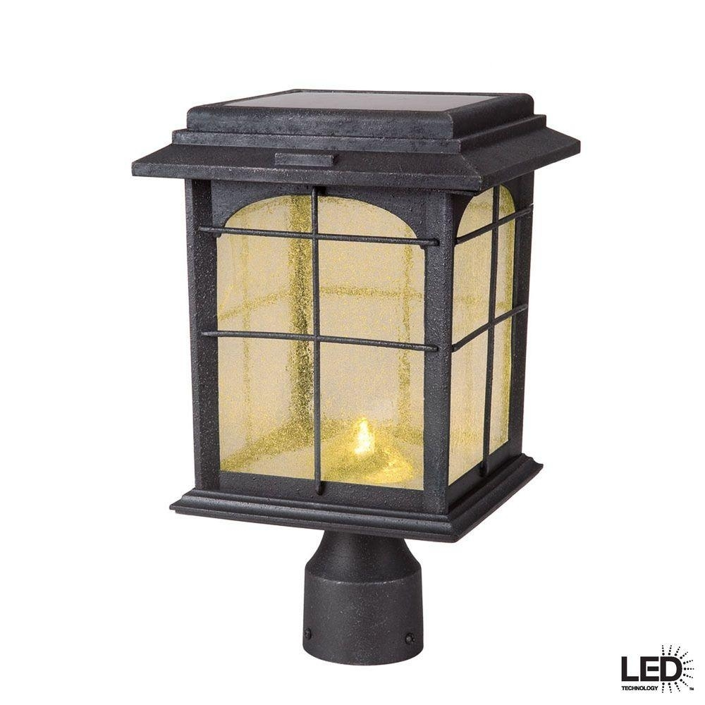 Dusk To Dawn – Post Lighting – Outdoor Lighting – The Home Depot Intended For Modern Solar Driveway Lights At Home Depot (#1 of 15)