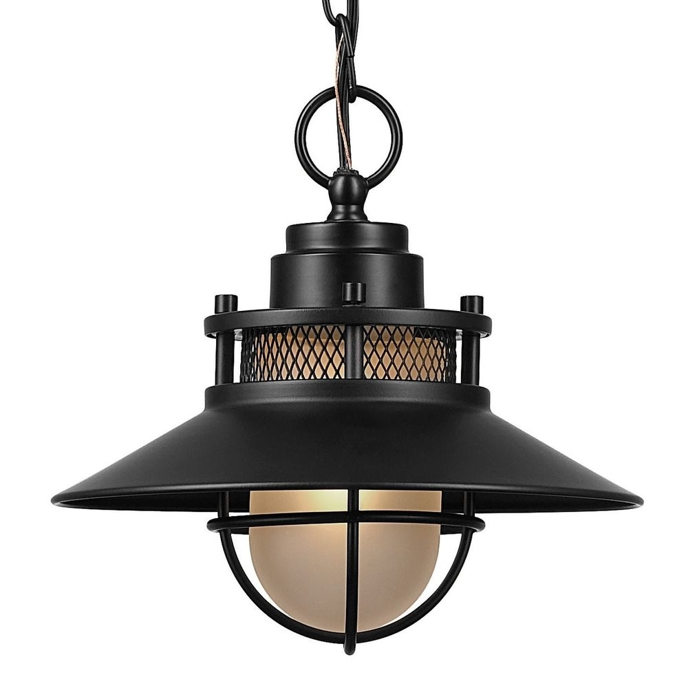 Ebay #black #outdoor #light #fixture #pendant #antique #industrial For Outdoor Hanging Lights At Ebay (View 3 of 15)