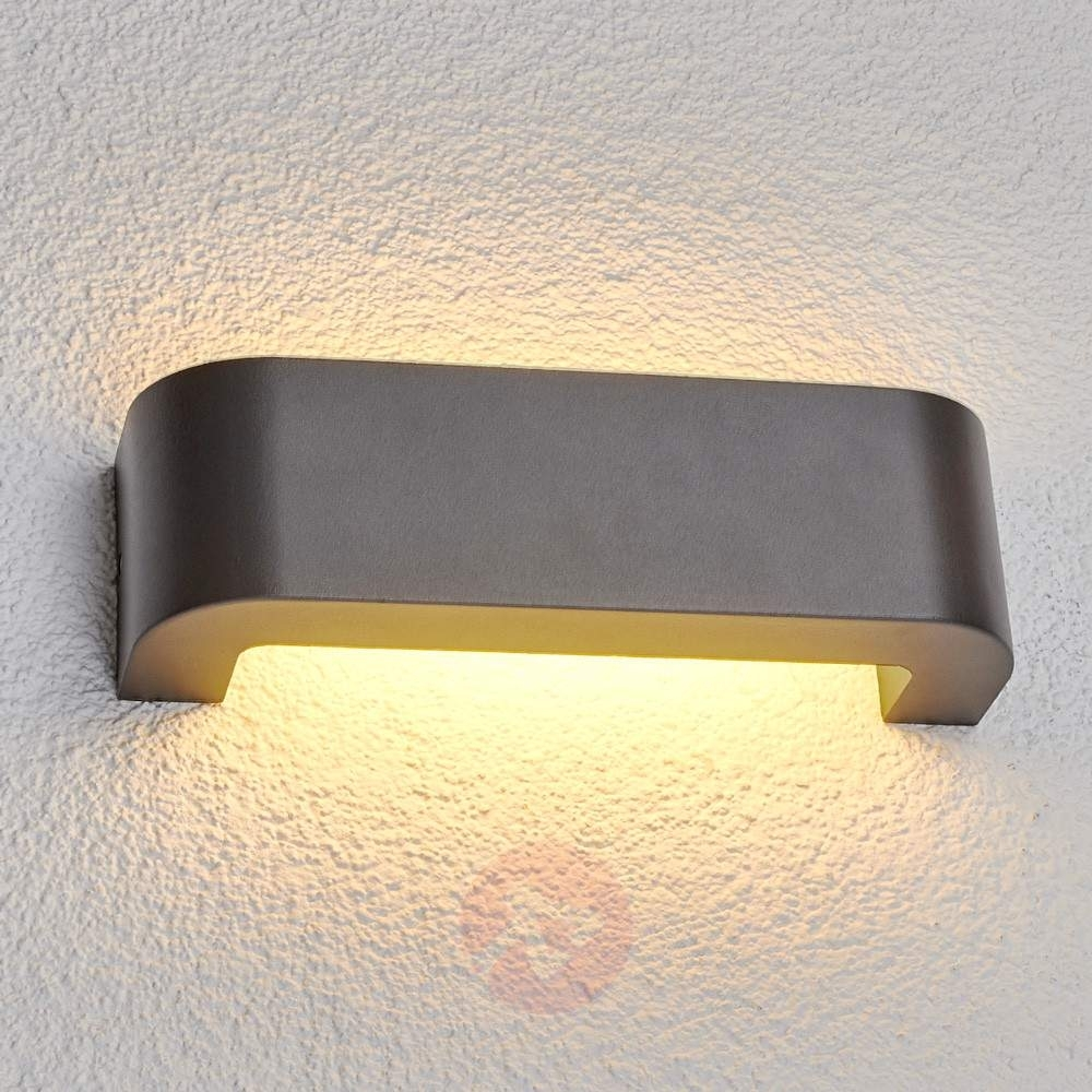 Eberta – Led Outdoor Wall Light In Graphite Grey | Lights.co (#5 of 15)
