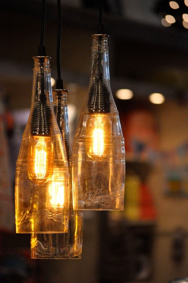 Popular Photo of Making Outdoor Hanging Lights From Wine Bottles
