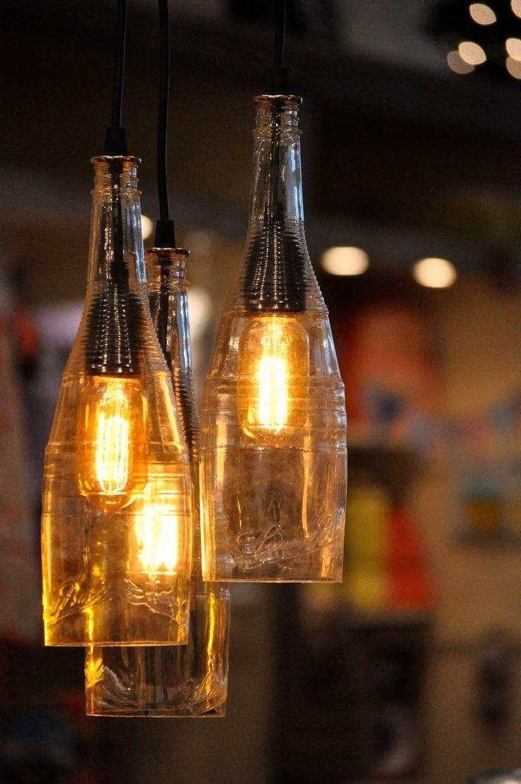 Popular Photo of Outdoor Hanging Bottle Lights