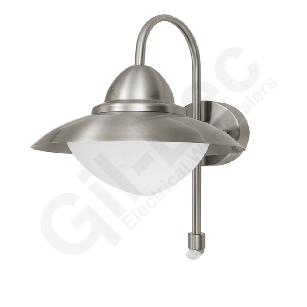 Eglo 87105 Sidney Stainless Steel Pir Wall Light Intended For Eglo Lighting Sidney Outdoor Wall Lights With Motion Sensor (#4 of 15)