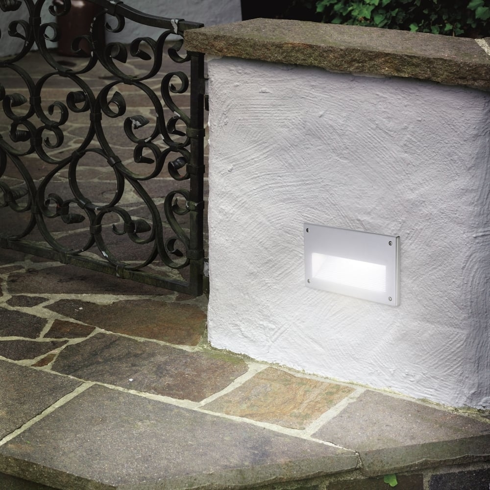 Eglo 88575 Zimba Ip44 Exterior Low Level Recessed Brick Wall Light Inside Recessed Outdoor Wall Lighting (#5 of 15)