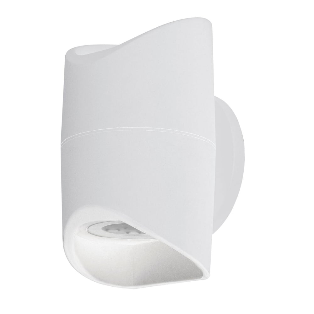 Eglo 95075 Abrantes Led Ip44 Outdoor Wall Light In White Within 200mm Eglo Riga Outdoor Led Wall Lighting (View 10 of 15)