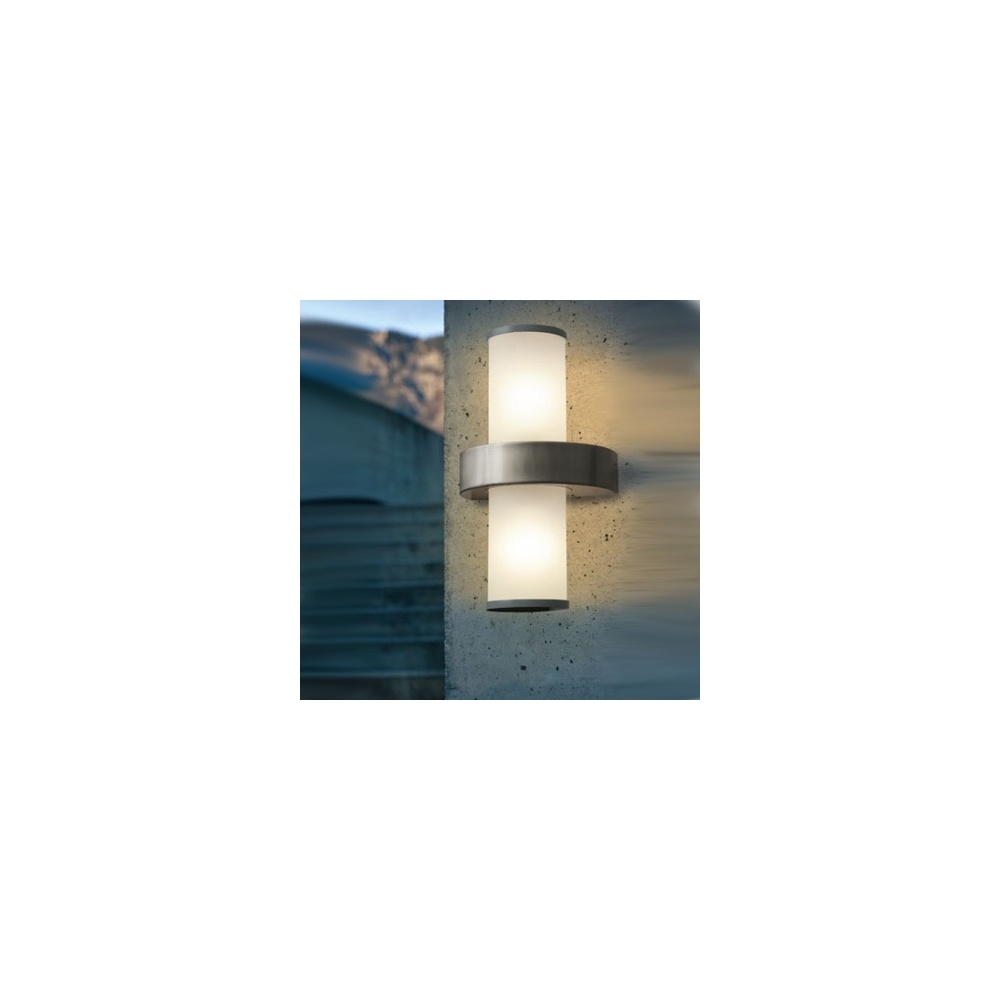 Eglo Beverly 86541 Ip44 Outdoor Wall Light In Stainless Steel Regarding 200mm Eglo Riga Outdoor Led Wall Lighting (View 14 of 15)