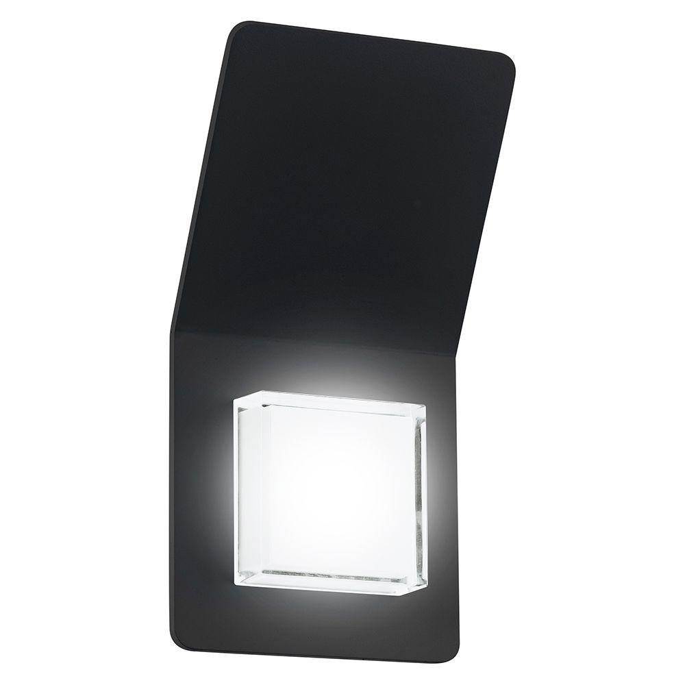 Eglo Pias 2 Light Black Outdoor Integrated Led Wall Light 200877A Throughout Black Outdoor Led Wall Lights (#5 of 15)