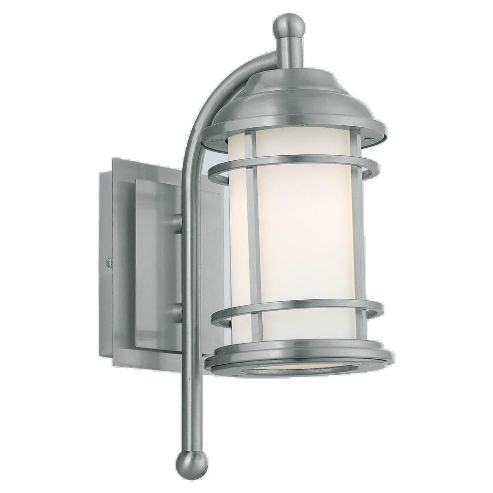 Eglo Portici 1 Light Stainless Steel Outdoor Wall Mount Lamp 20639A Inside Eglo Outdoor Lighting (#11 of 15)