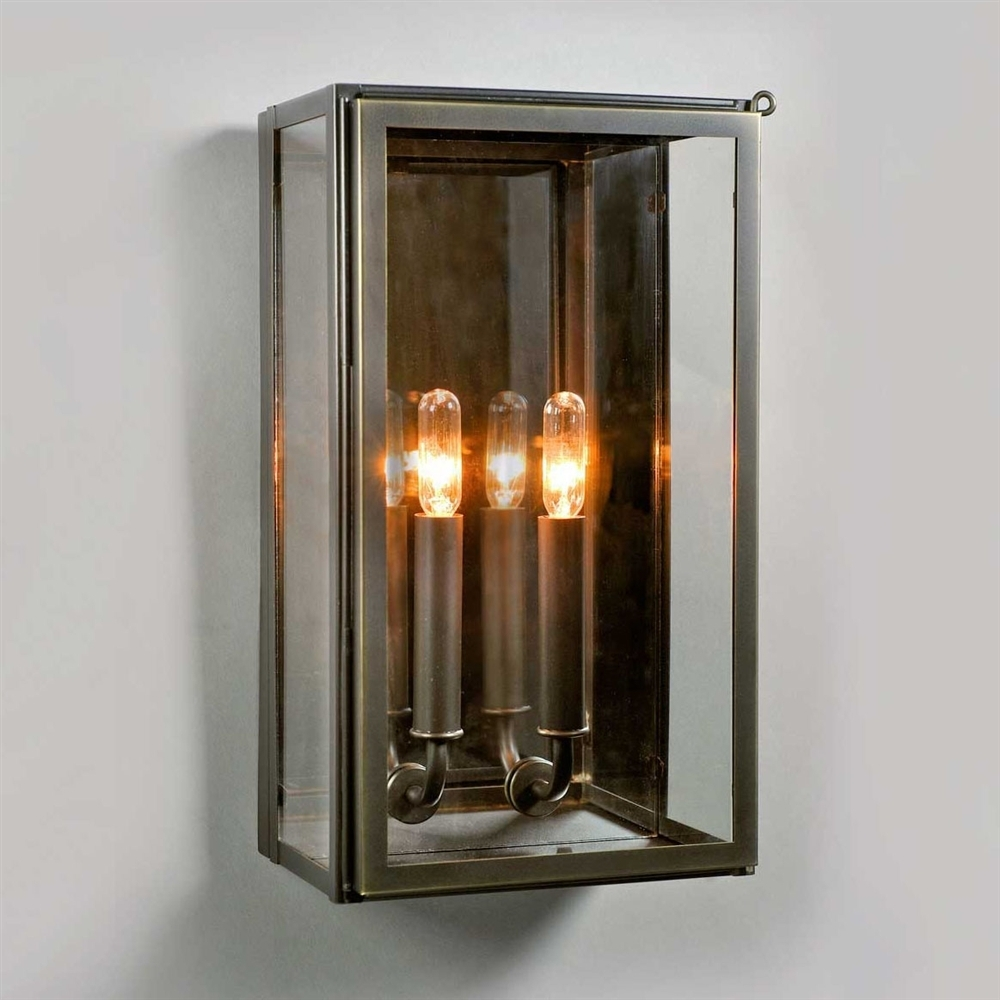 Electric Vic Indoor/outdoor Wall Sconce In Bronze Ue 8710 Bz Pertaining To Rectangle Outdoor Wall Lights (#6 of 15)
