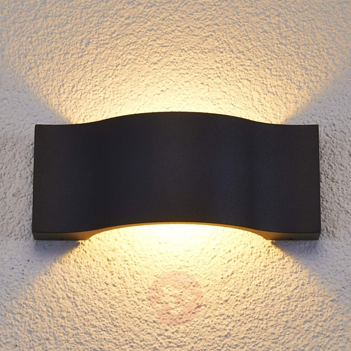 Elegant Led Outdoor Wall Light Jace Graphite | Lights.co (View 7 of 15)