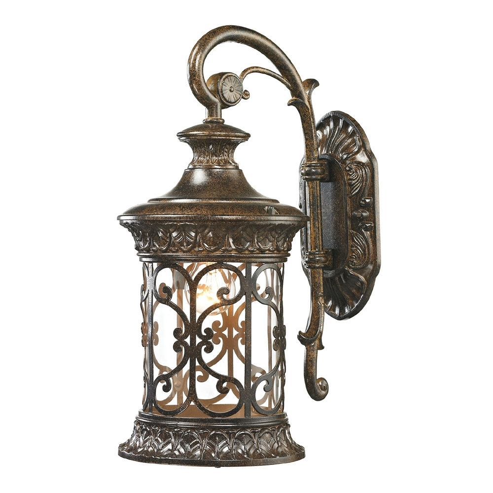 Elk 45080 1 Orlean Traditional Hazelnut Bronze Outdoor Wall Lighting With Regard To Large Outdoor Wall Light Fixtures (#6 of 15)