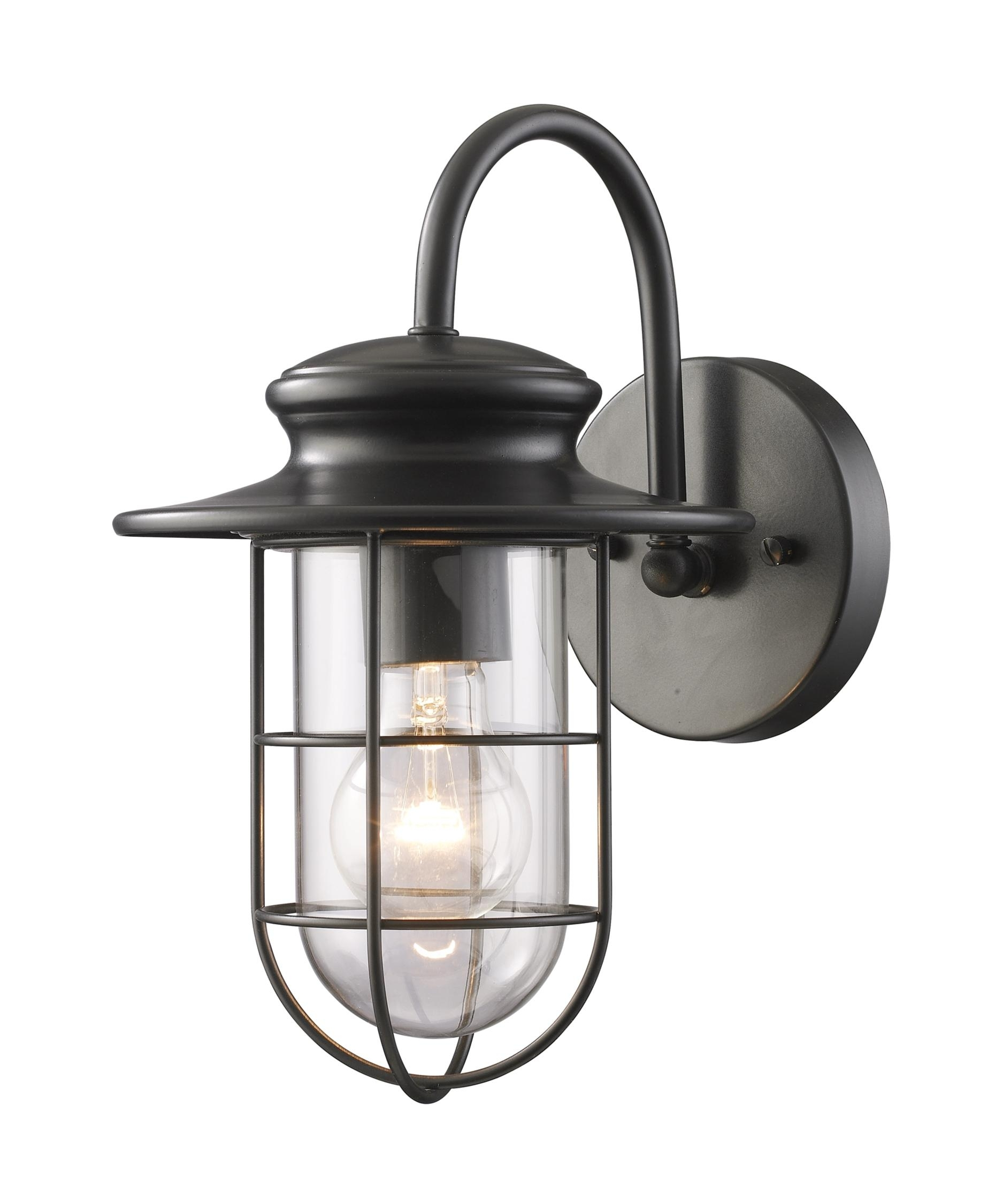 Elk Lighting 42284 1 Portside 7 Inch Wide 1 Light Outdoor Wall Light For Industrial Outdoor Wall Lighting (#2 of 15)