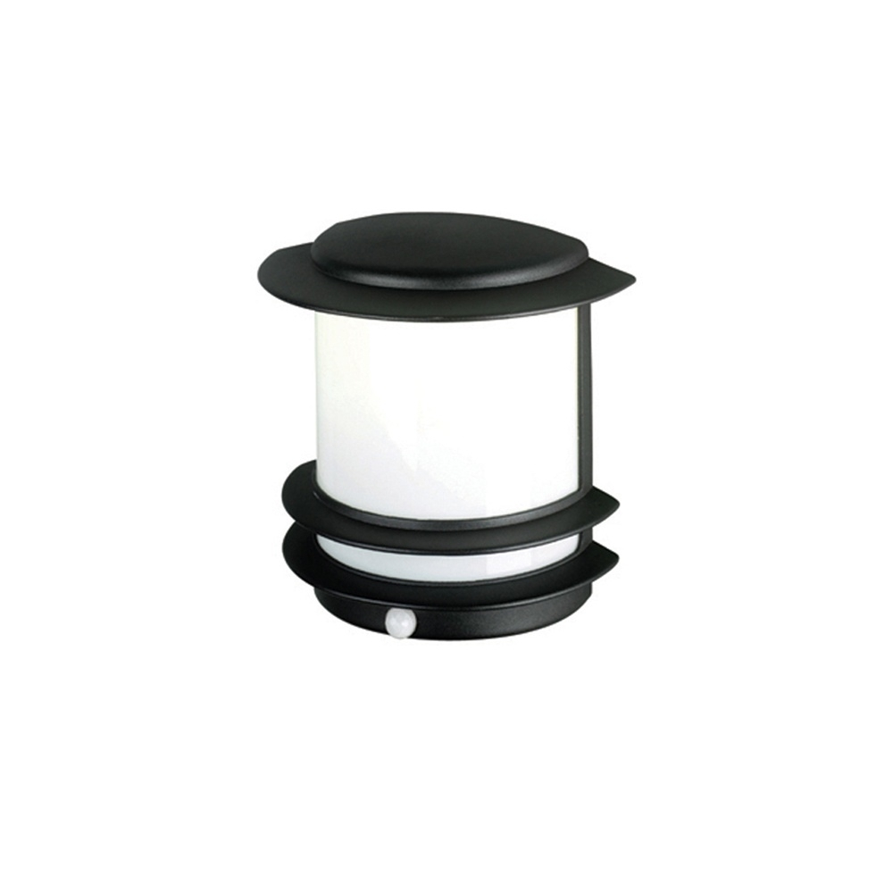 Elstead Lighting Azure Low Energy 10 Black Outdoor Wall Light Pir Throughout Outdoor Wall Lights With Pir (View 10 of 15)