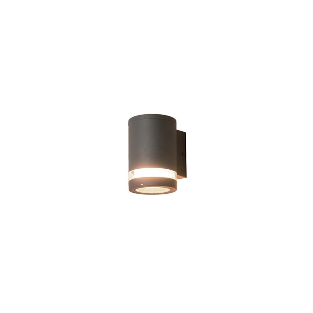Elstead Lighting Azure Low Energy 3 Dark Grey Outdoor Wall Light Within Grey Outdoor Wall Lights (#6 of 15)