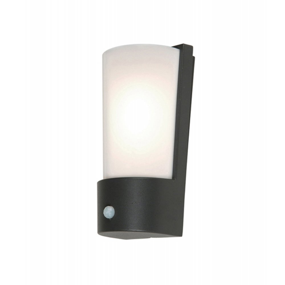 Elstead Lighting Azure Low Energy 7 Dark Grey Outdoor Wall Light Pir Intended For Outdoor Pir Wall Lights (#8 of 15)