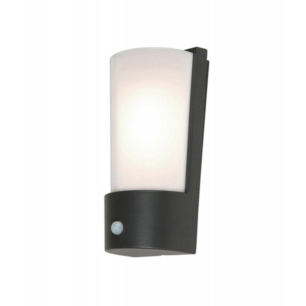 Elstead Lighting Azure Low Energy 7 Dark Grey Outdoor Wall Light Pir With Outdoor Wall Lights With Pir (#10 of 15)