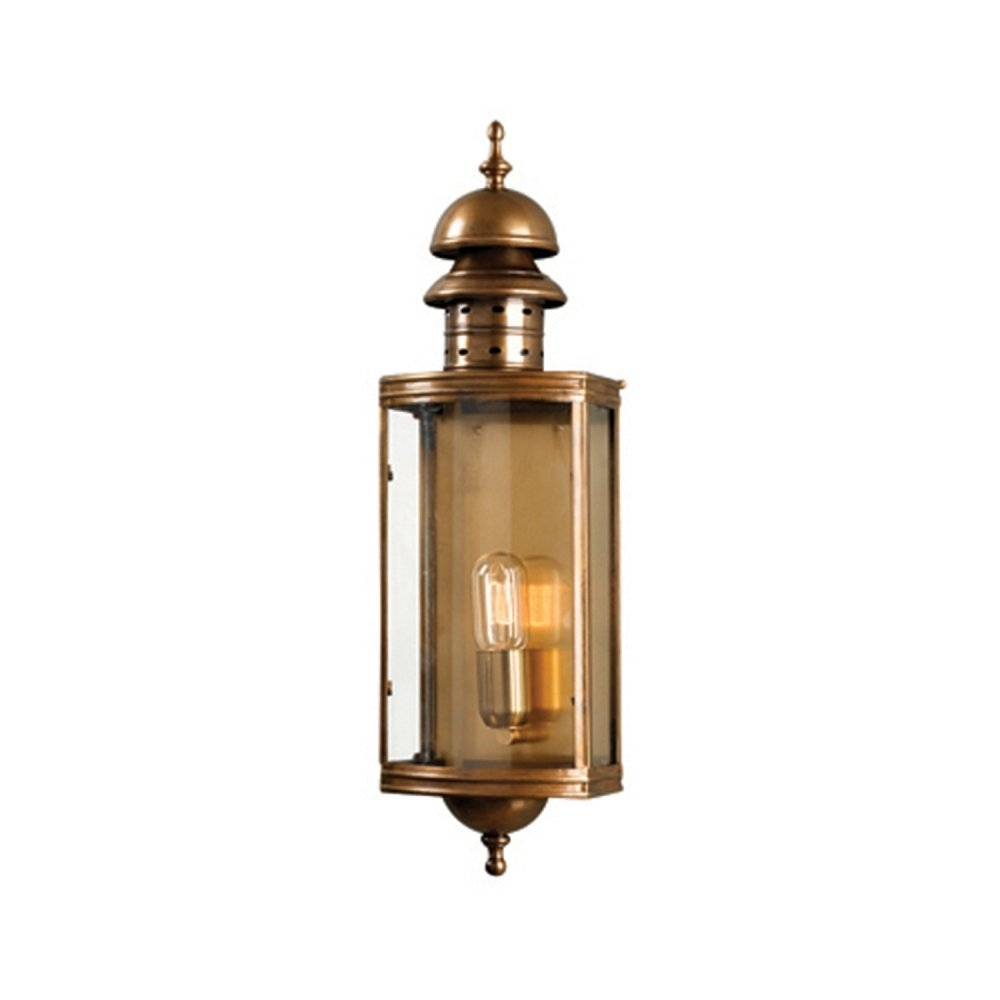 Elstead Lighting Downing Street Wall Lantern Brass – From Yesss Pertaining To Japanese Outdoor Wall Lighting (#6 of 15)