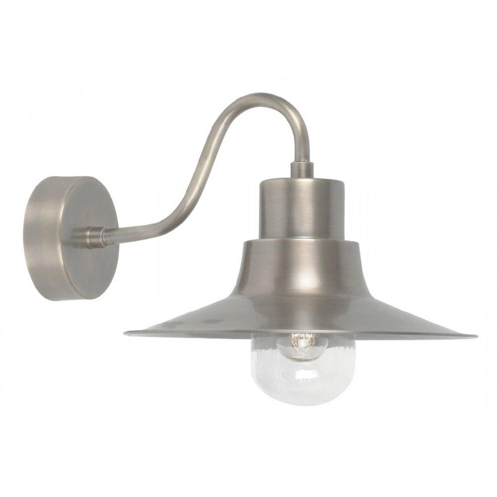 Elstead Lighting Sheldon Antique Nickel Outdoor Wall Light With Regard To Nickel Outdoor Wall Lighting (#3 of 15)