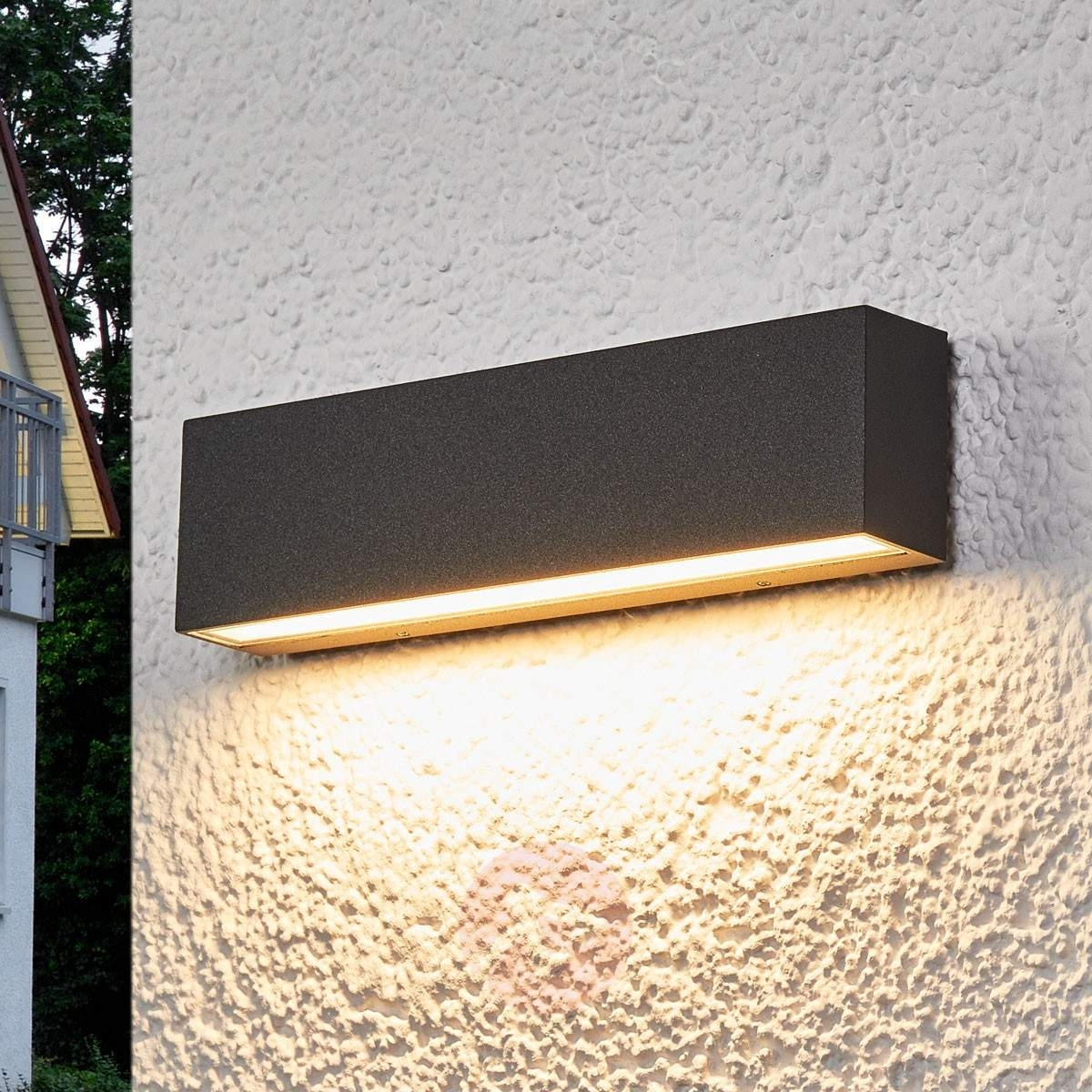 Elvira – Graphite Grey Ip65 Led Outdoor Wall Lamp | Lights.co (#8 of 15)