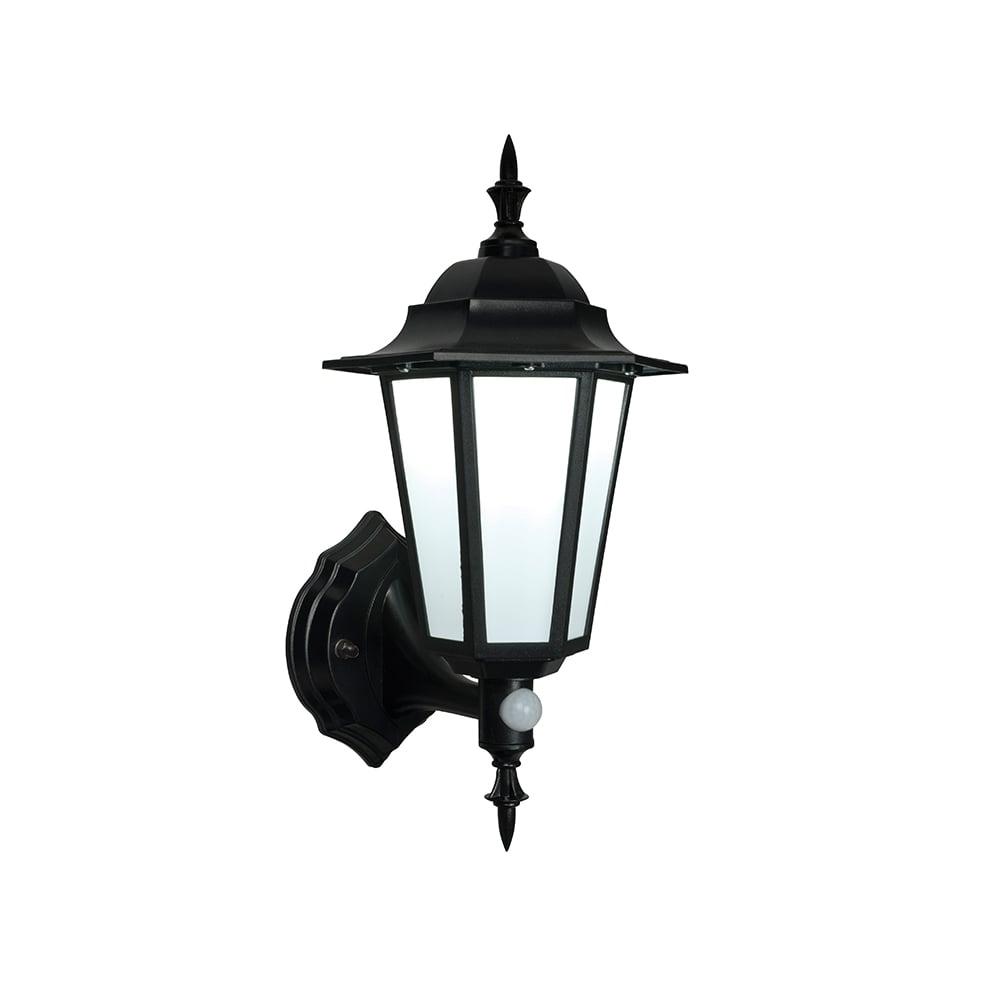 Endon Evesham Black Outdoor Led Wall Light With Sensor In Outdoor Led Wall Lights With Sensor (View 15 of 15)