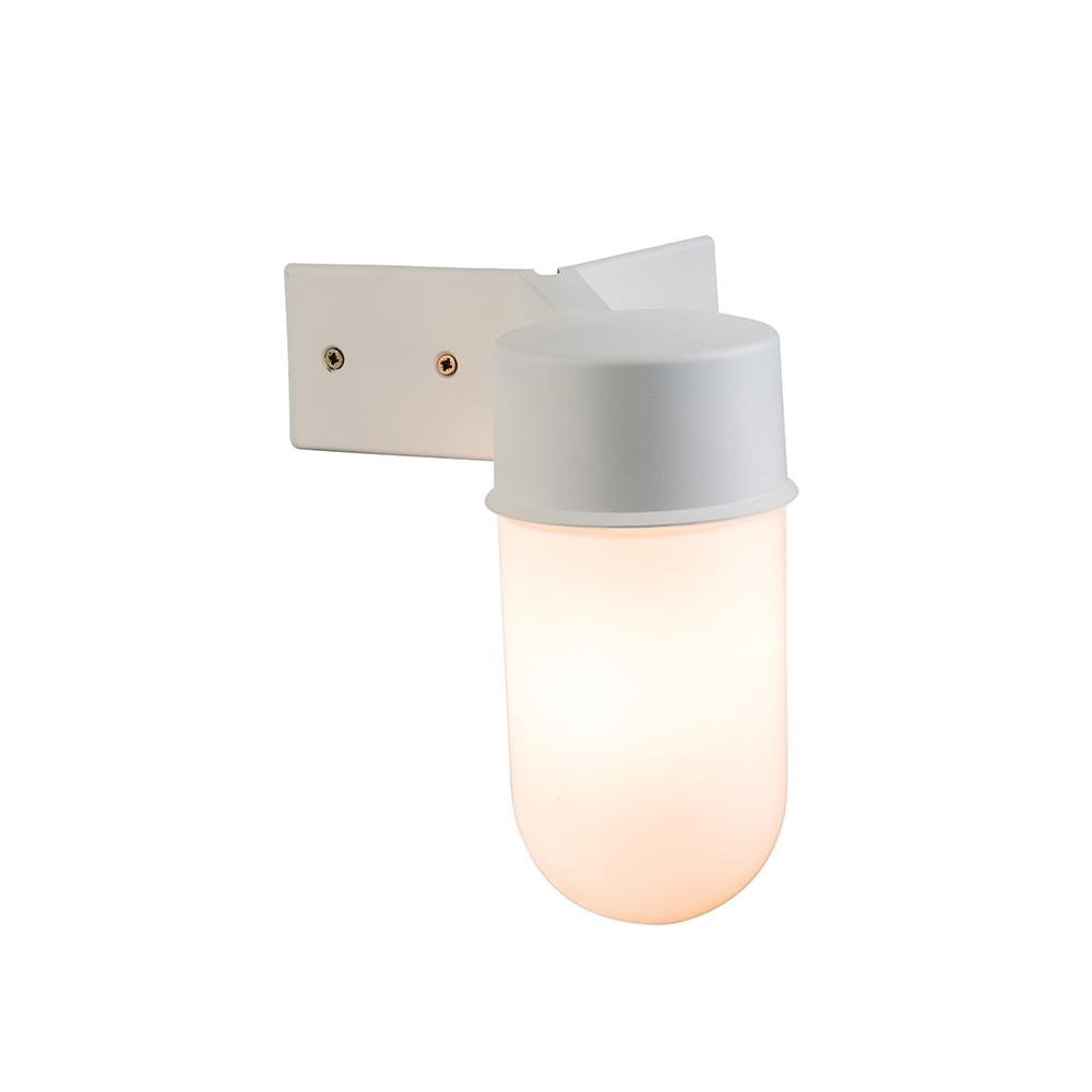 Endon Ware Outdoor Corner Wall Light White – Ilite Pertaining To Outdoor Corner Wall Lighting (#5 of 15)