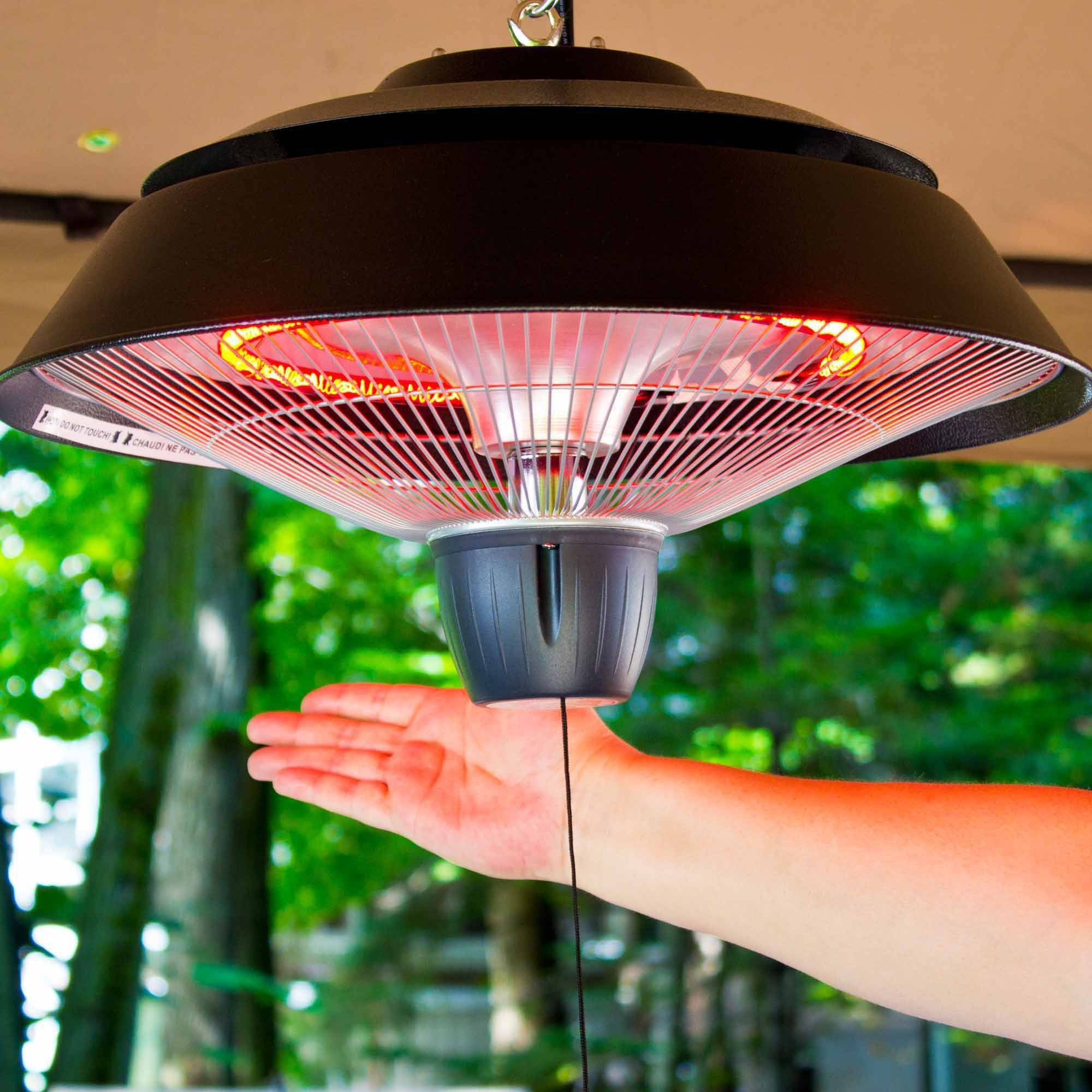 Energ+ 1500 Watt Hanging Electric Infrared Gazebo Heater, Hammered Intended For Outdoor Hanging Heat Lamps (#3 of 15)