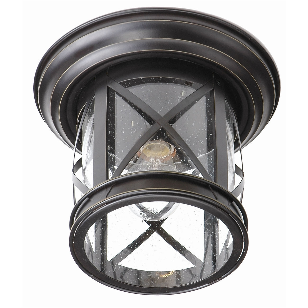 England Coastal Outdoor Flush Mounttrans Globe | 5128 Rob For Outdoor Ceiling Mounted Lights (#4 of 15)