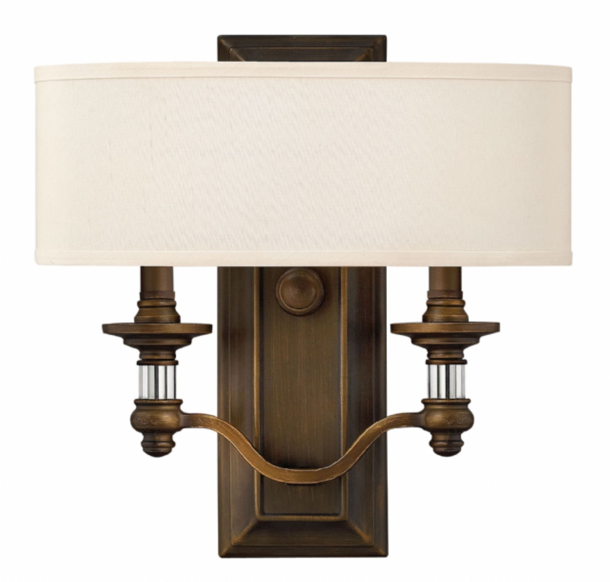 English Bronze Sussex > Interior Wall Mount Throughout Double Wall Mount Hinkley Lighting (#3 of 15)