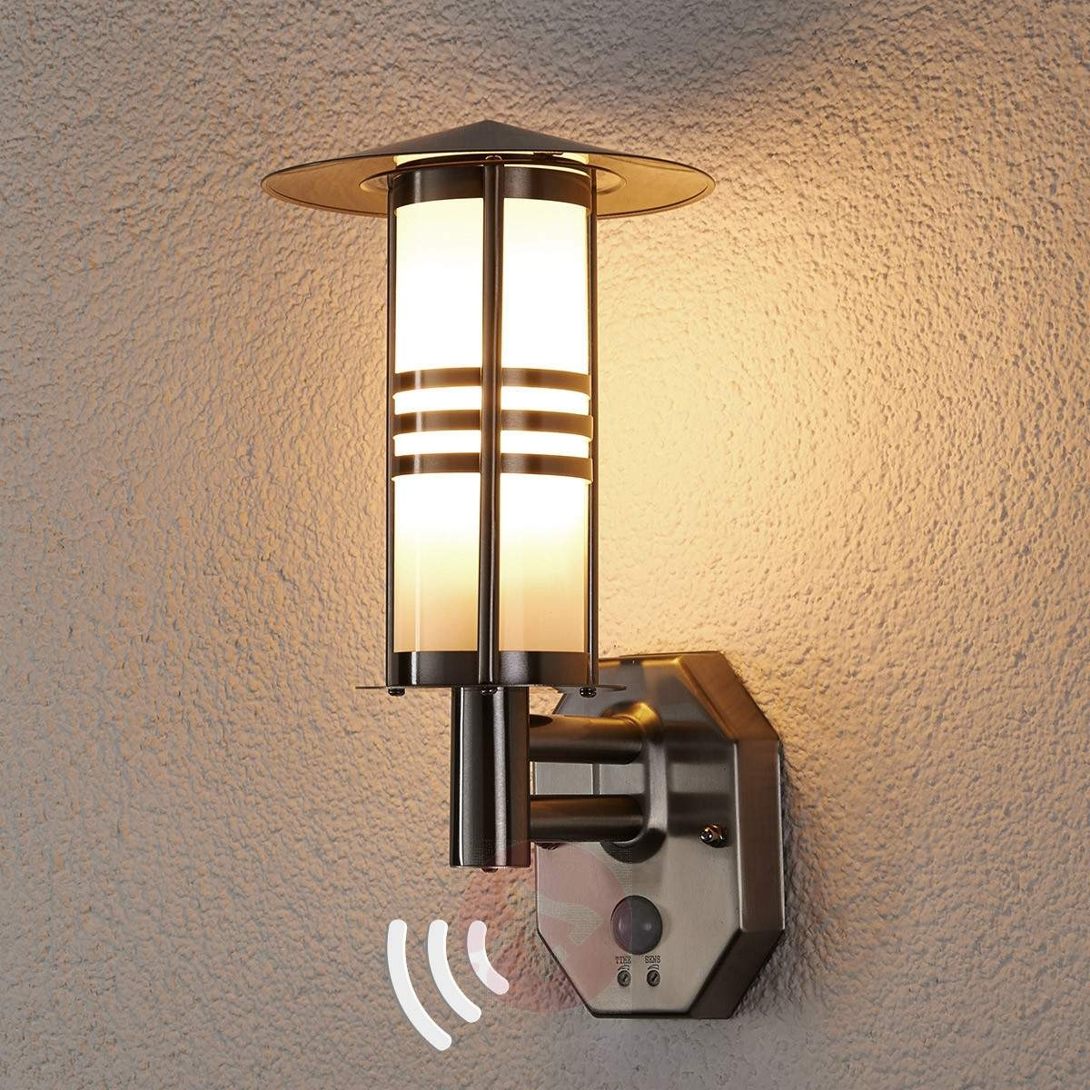 Erina Motion Detector Outdoor Wall Lamp | Lights.co (#4 of 15)