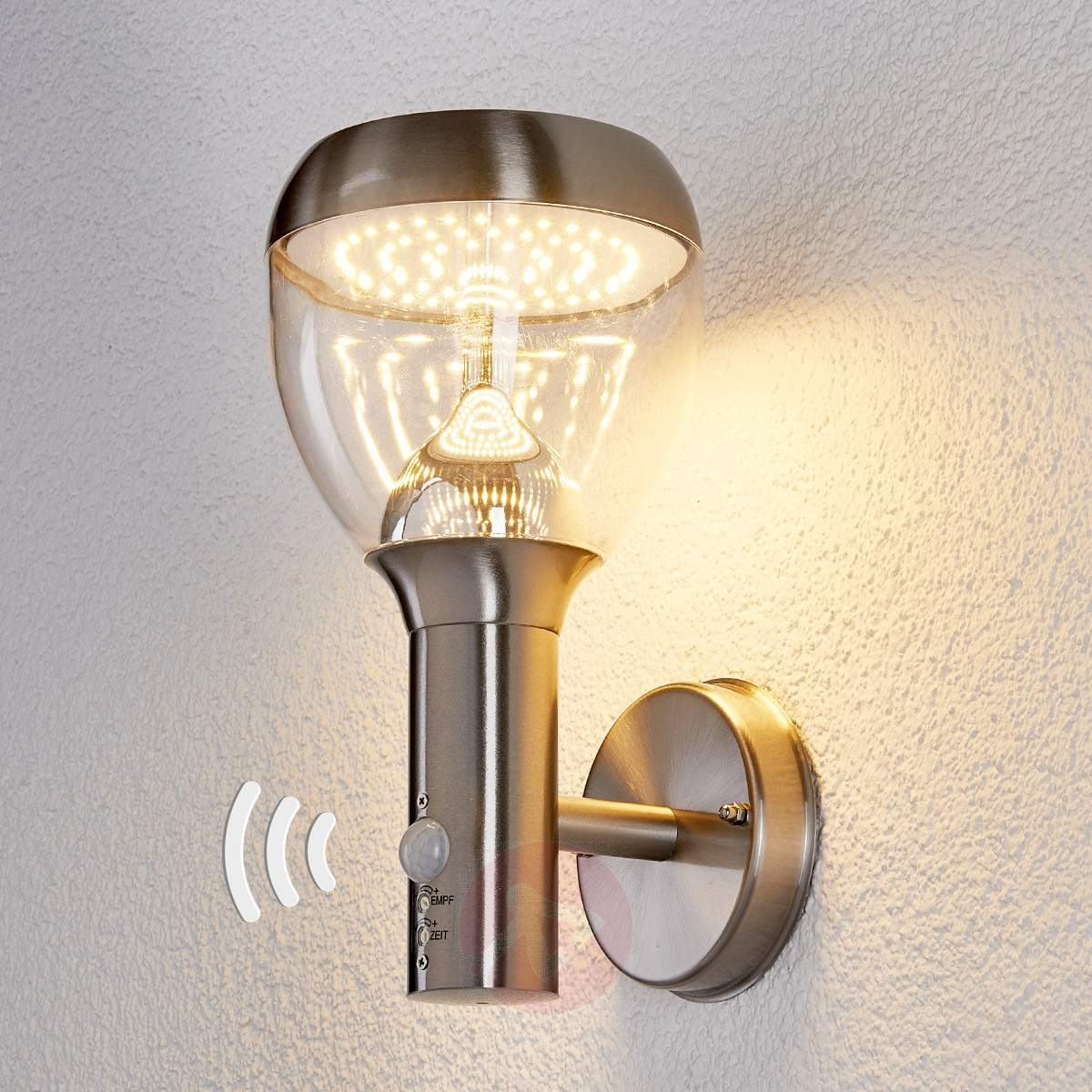 Etta Stainless Steel Sensor Outdoor Wall Light,led | Lights.co (#8 of 15)