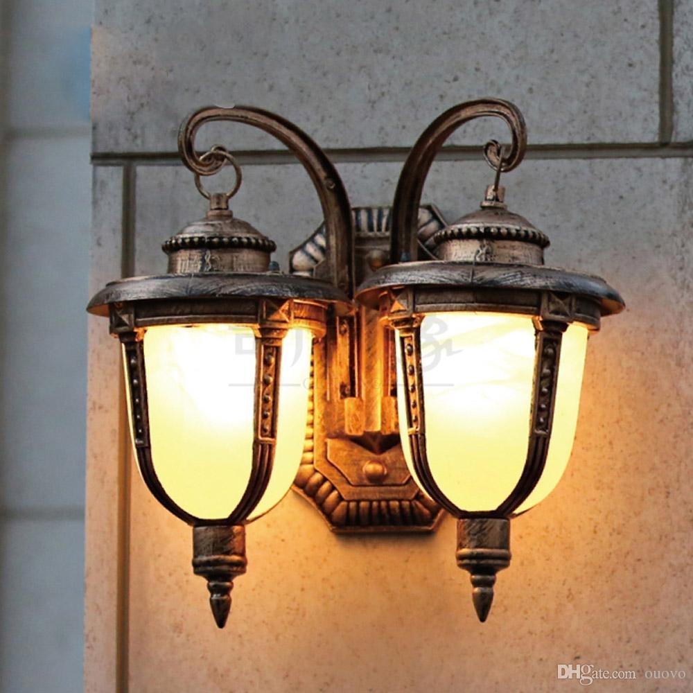 European Double Heads Outdoor Garden Wall Lamps European Villa With European Outdoor Wall Lighting (#3 of 15)