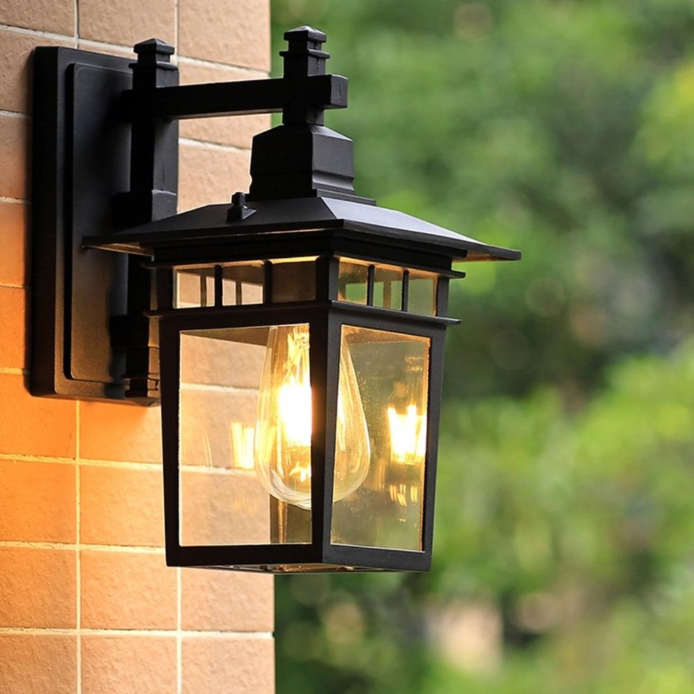 European Outdoor Wall Lamp Waterproof American Outdoor Villa In European Outdoor Wall Lighting (#5 of 15)