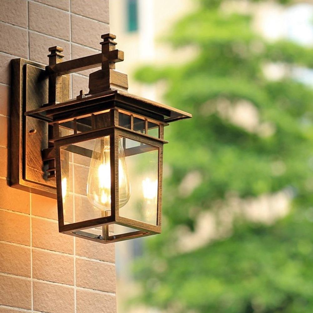 European Outdoor Wall Lamp Waterproof American Outdoor Villa With European Outdoor Wall Lighting (#7 of 15)