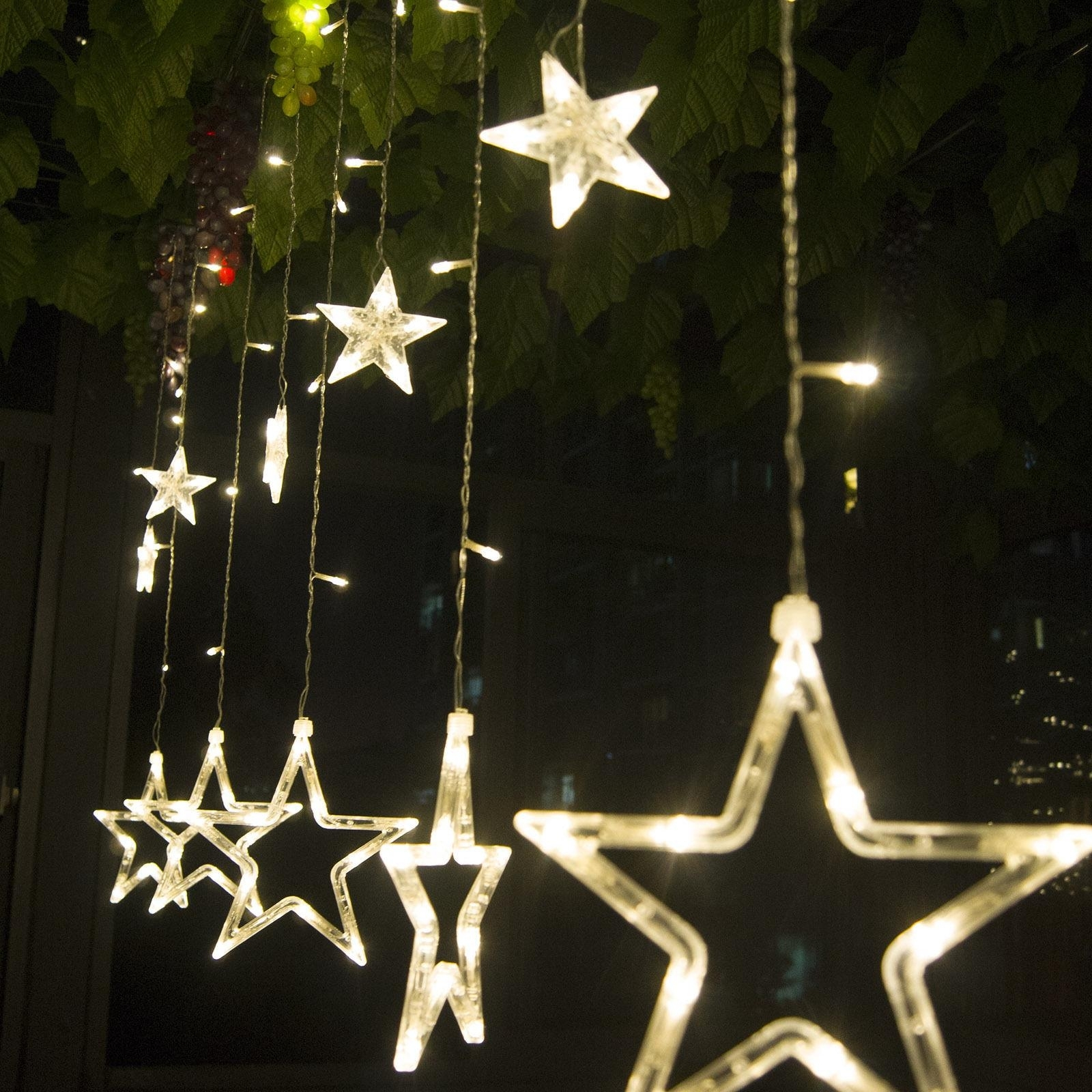 Popular Photo of Outdoor Hanging Star Lights