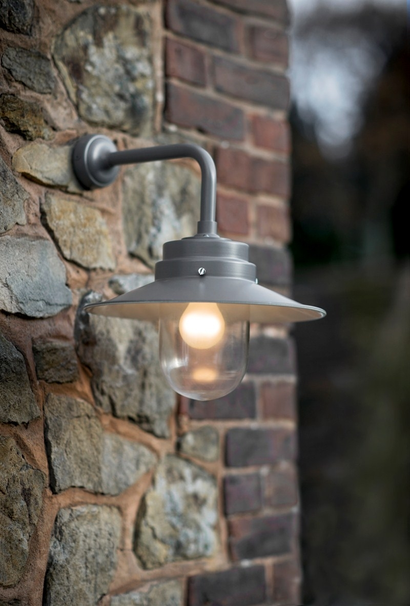 Exciting Wall Mount Outdoor Light Exterior Garage Lights Hanging Within Hanging Outdoor Lights On Brick (#7 of 15)