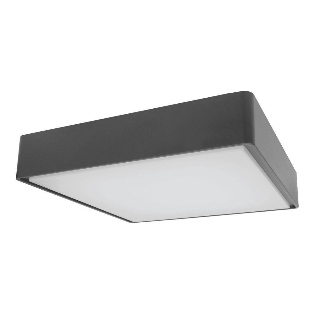 Exterior 16W Square Plastic Led Outdoor Living Area Celing / Wall Throughout Plastic Outdoor Ceiling Lights (#4 of 15)