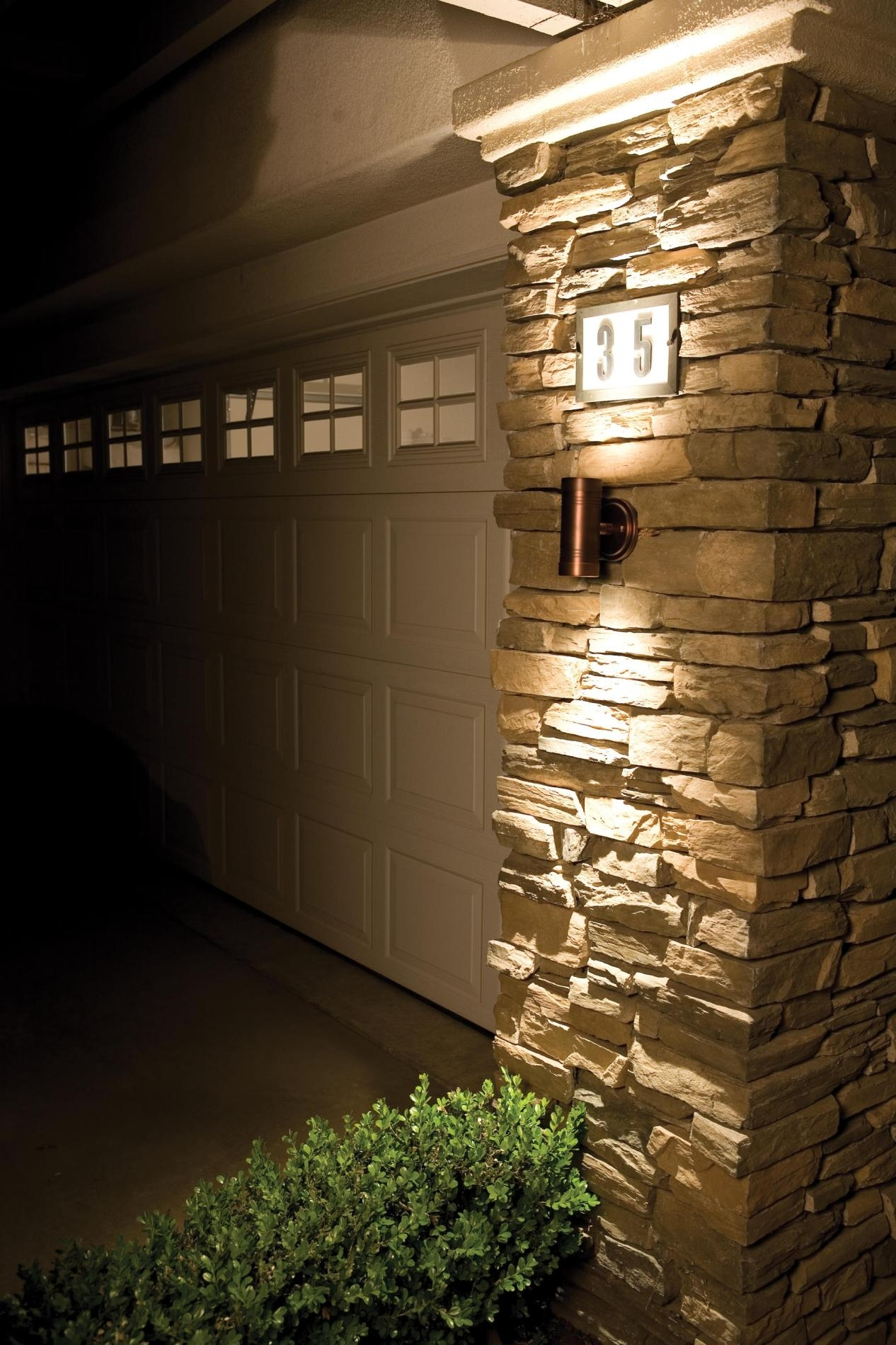 Exterior Wall Stone Cladding House Design With Outdoor Led Wall In Outdoor Exterior Wall Lighting (#8 of 15)