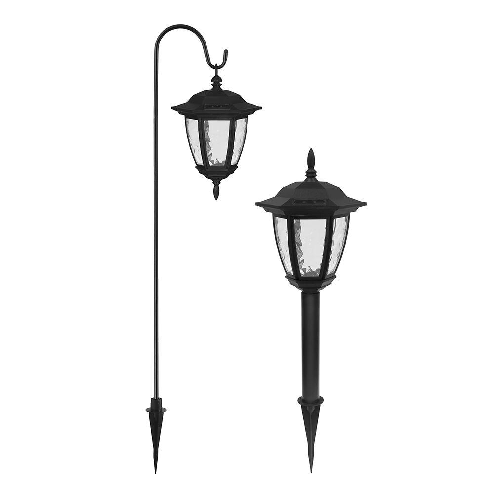 Ezsolar Solar Powered Led Black Dual Use Coach Light Set (2 Pack In Contemporary Outdoor Solar Lights At Wayfair (#5 of 15)