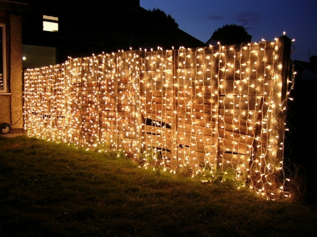 Fabulous Fairy Lights For Impressive Garden Decorating Ideas With Throughout Outdoor Hanging Fairy Lights (#5 of 15)