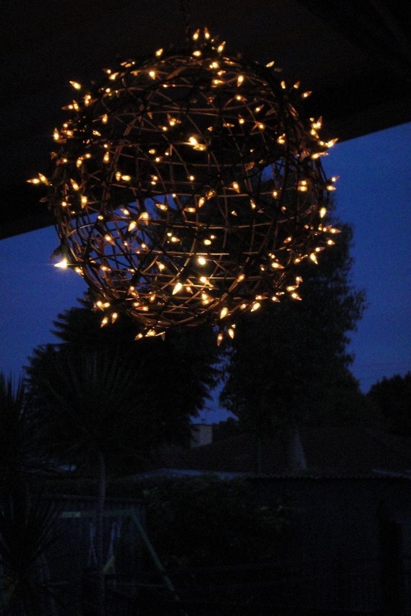 Fairy Light Globe | White Christmas Lights, Plant Hangers And Regarding Outdoor Hanging Basket Lights (#4 of 15)